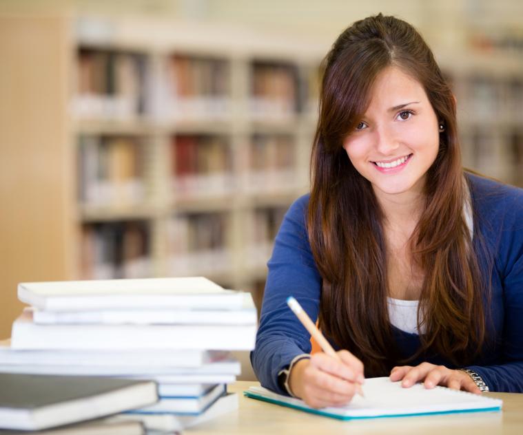 teen studying